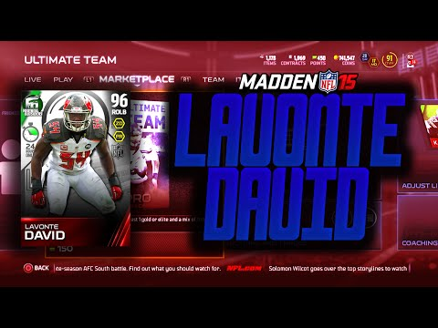 Madden NFL 15 Ultimate Team -  24 HOUR LAVONTE DAVID! PACK OPENING! #WHODATNATION  - MUT 15
