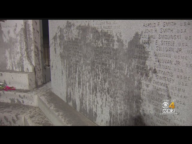 World War II Memorial In South Boston Covered In Oil By Vandals