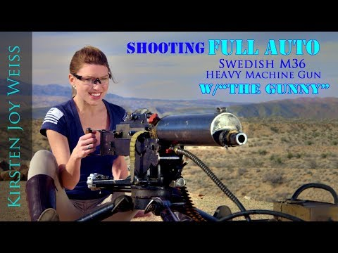 Shooting FULL AUTO Heavy Swedish M36 | Kirsten Joy Weiss & The Gunny (R Lee Ermey) - Ep. 4