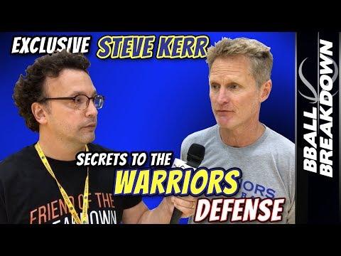 Steve Kerr EXCLUSIVE: SECRETS To The Warriors DEFENSE