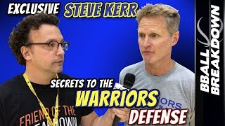 Steve Kerr EXCLUSIVE: SECRETS To The Warriors DEFENSE
