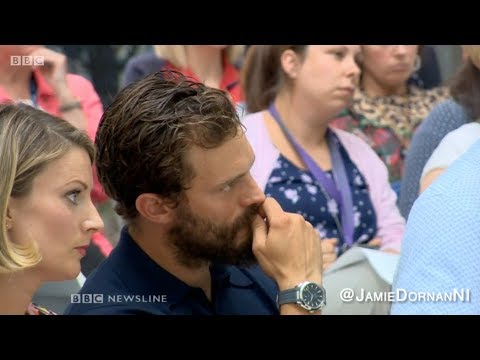 Jamie Dornan BBC NI Interview at the launch of NI PanC in Belfast 1.08.18
