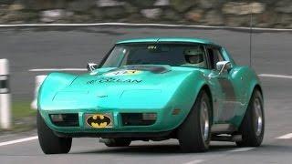 American Muscle Cars @ Historic Hillclimb Langwies-Arosa 2015. Corvette Stingray, Mustang, Galaxie