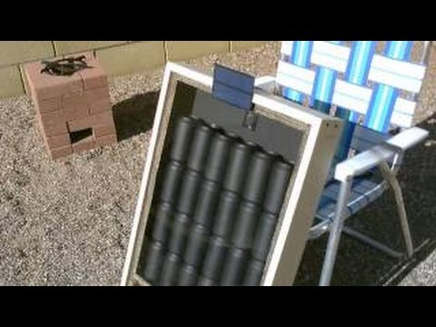 Solar Air Heater - DIY solar thermal furnace - 150F+ Temps. (beer/soda/pop can heater) - f