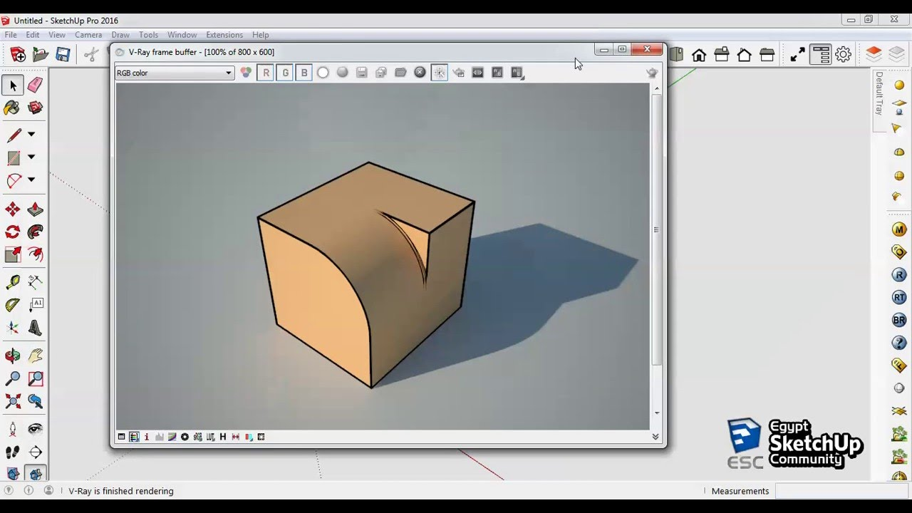 Vray Toon Material | Sketchup Vray Tutorial | Vray Toon Tutorial