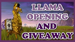 Fortnite Llama Roulette Ep. 2 | Save The World Secret Llama Stash Opening + Giveaway