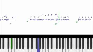 How To Play Jar of Hearts Christina Perri Piano cover Tutorial w/ Sheet music