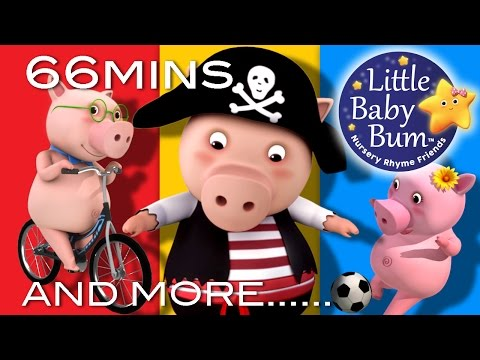 This Little Piggy Went To Market | Plus Lots More Nursery Rhymes | 54 Minutes from LittleBabyBum!