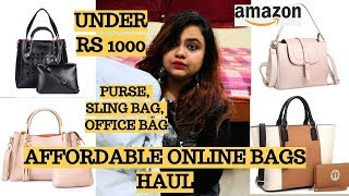 Handbags under Rs 500 Affordable handbag haul Amazon high rating bags Flipkart Myntra