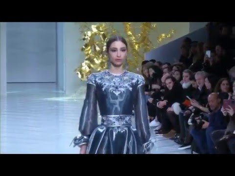 """Chinese designer Guo Pei haute couture week in Paris, presented a collection of """"Emperor's Garden"""