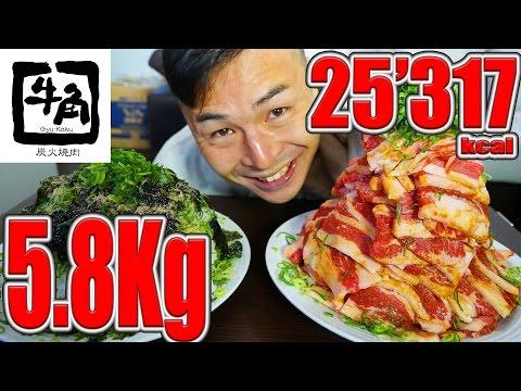 牛角カルビ2.9kg!カルビ専用ご飯2.9kg【計5.8kg】肉大食い25317kcal