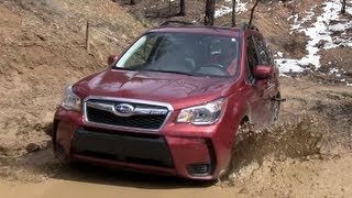2014 Subaru Forester XT Muddy Off-Road Drive & Review
