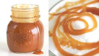 How To Make Caramel Sauce For Drink 카라멜소스 만들기 - 한글자막