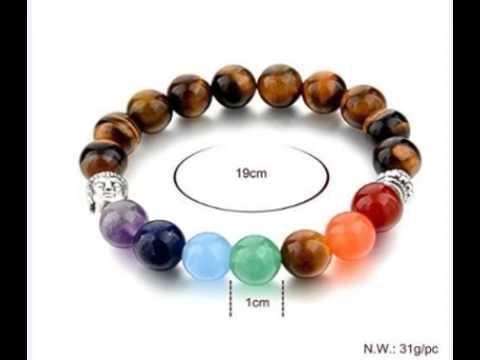 सभी ग्रहों के लिये Navaratna 7 Chakra Navagraha Bracelet