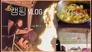 캠핑 VLOG 장보고, 캠핑요리 만들어먹는 일상 / 역…