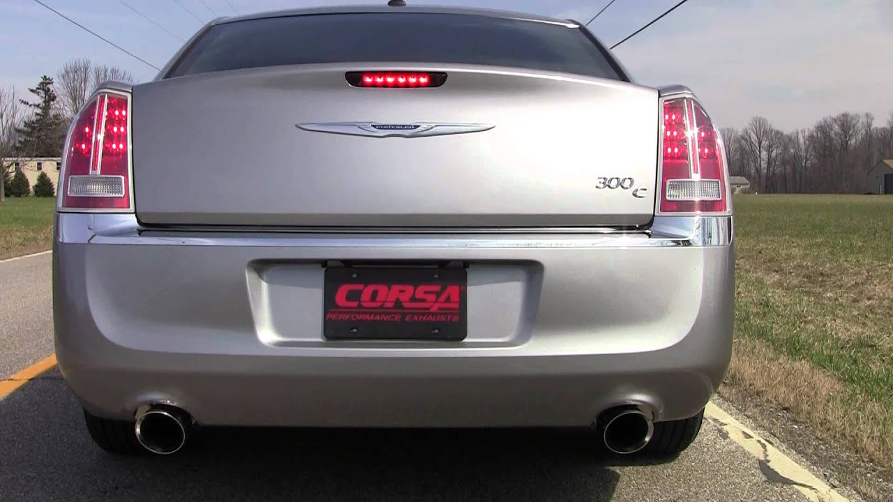 2011 2014 chrysler 300 performance exhaust system kit cat back corsa 14535