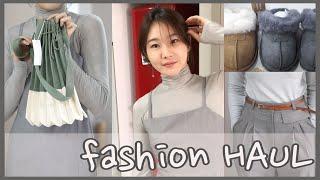 가을 코디,fashion haul,(반폴라,원피스,UG…