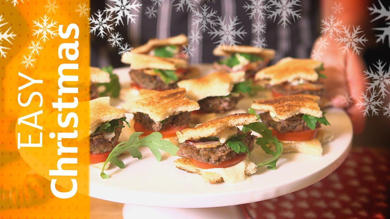 Star Mini Burgers Easy Christmas Party Food Sainsburys