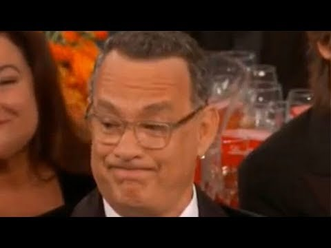 Tom Hanks' reaction to Ricky Gervais' Golden Globes monologue goes viral