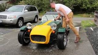 first drive video with the caterham 7