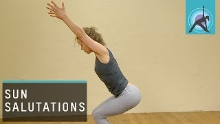 Three variations of a Sun Salutation or Surya Namaskar, Yoga