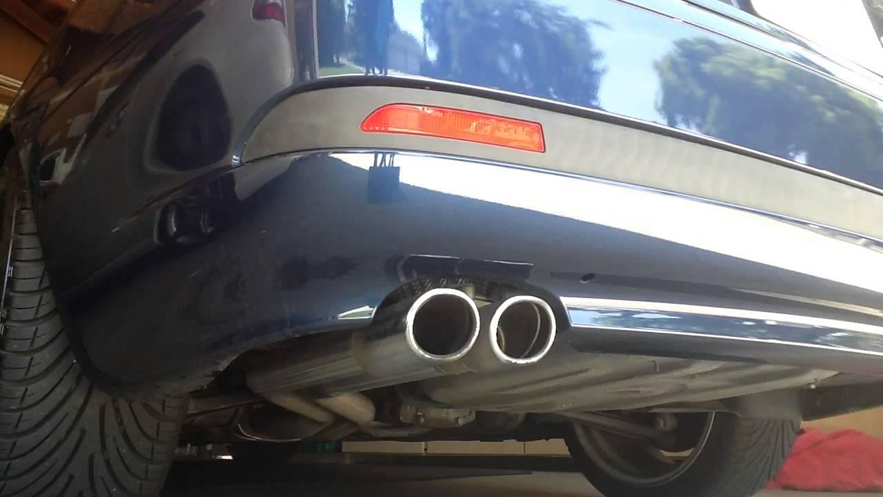 E46 2004 330ci Muffler Delete  Warm Start