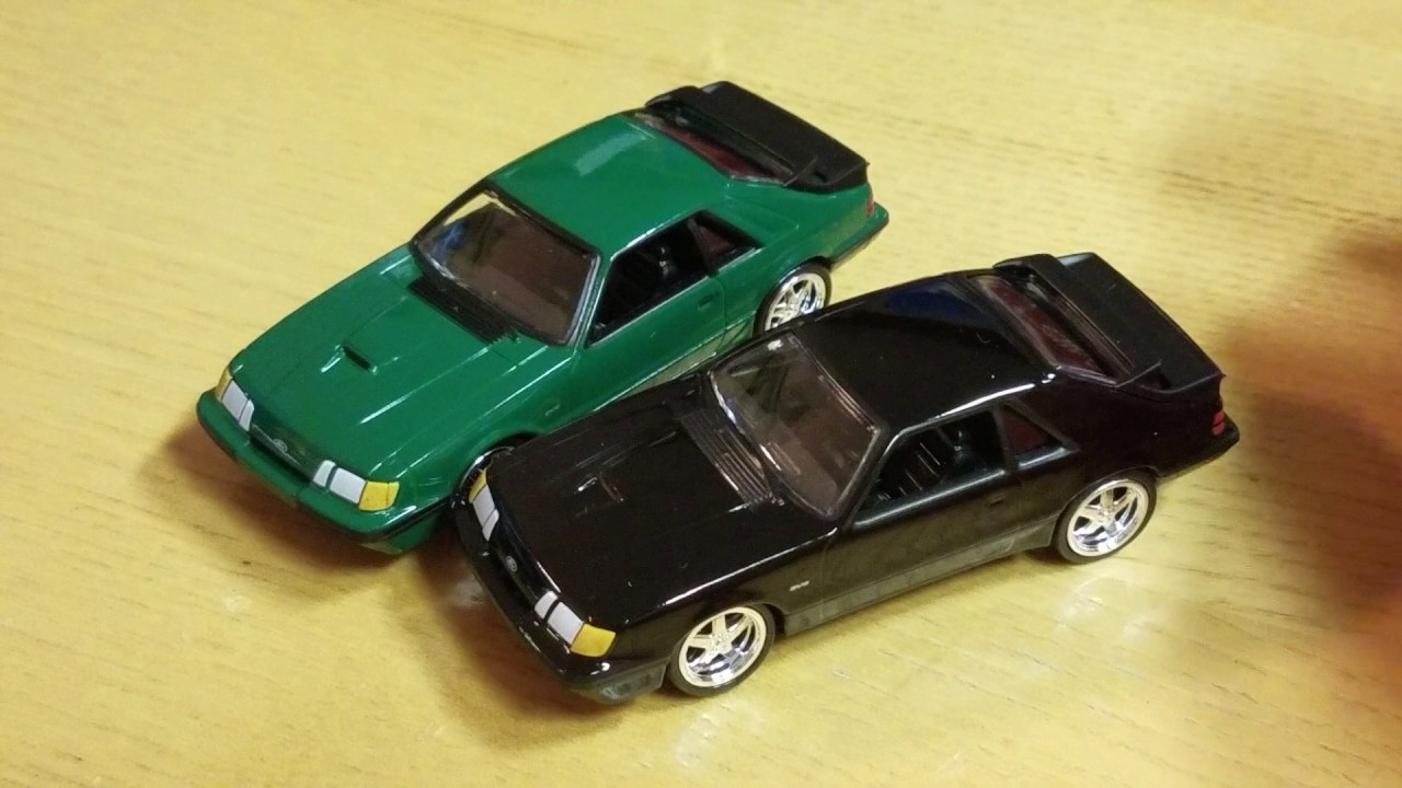 Auto World Green 1985 Ford Mustang Svo 2017 Deluxe Release 1 Fox Body