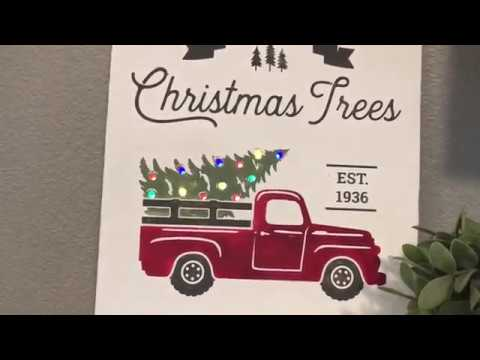 Christmas Tree Truck Sign Silhouette Cameo And Cricut