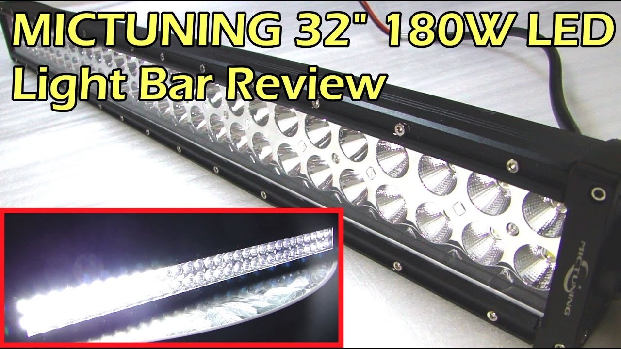 Mictuning 32 180w Led Light Bar Review Youtube Wire Diagram
