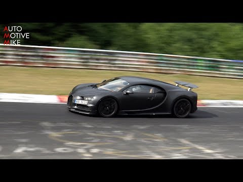 Bugatti Chiron testing at the Nürburgring