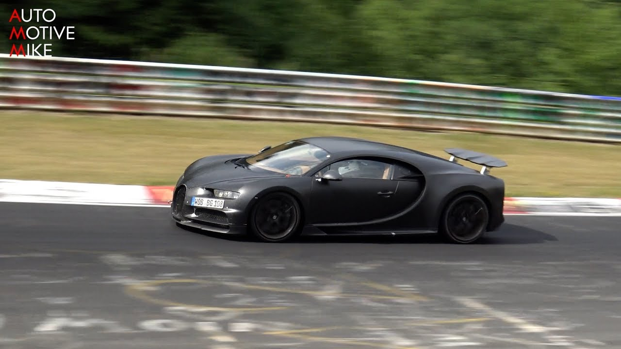 bugatti chiron testing at the nürburgring - youtube