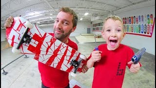 BUILDING MY NEW SKATEBOARD FOR WINTER! / Andy Schrock