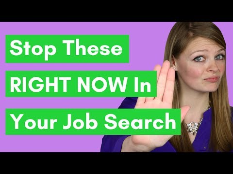5½ Things You Need To STOP Doing RIGHT NOW In Your Job Search