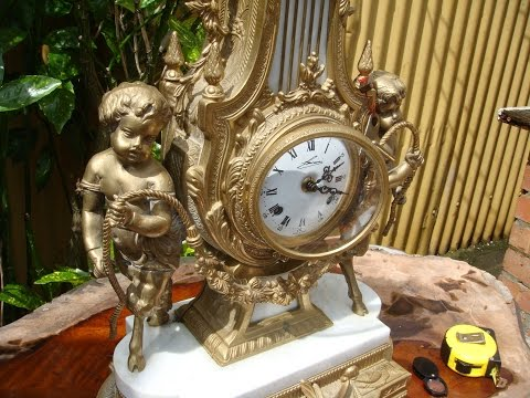 Vintage Antique F H S German Movement Case Dial  Italian Mantle Clock SEE VIDEO