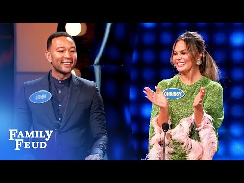 OH MY Here&39;s how Chrissy Teigen and John Legend met  Celebrity Family Feud