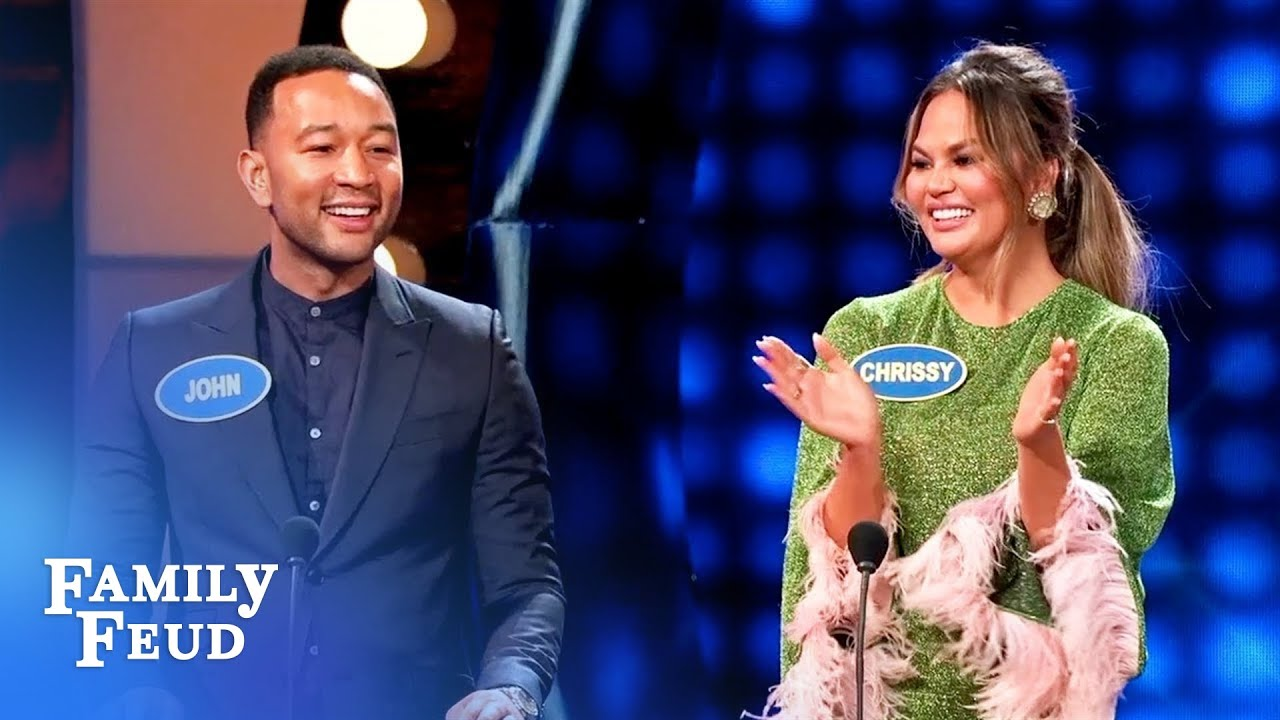 OH MY! Here's how Chrissy Teigen and John Legend met! | Celebrity Family Feud