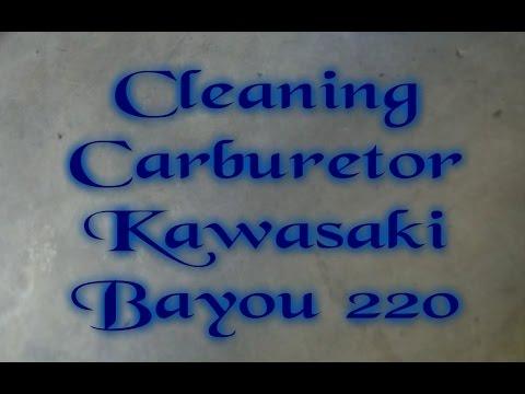 Cleaning Carburetor Kawasaki Bayou 220 - YouTube