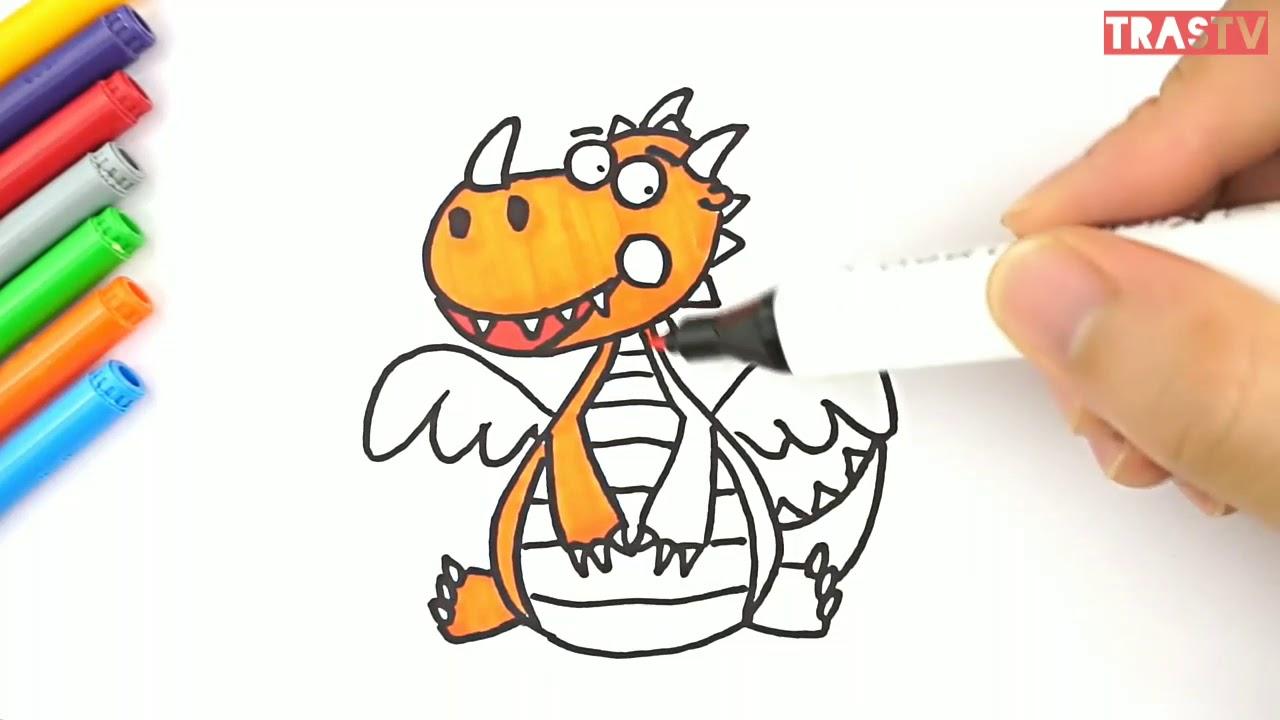 Menggambar Dan Mewarnai Dinosaurus Mewarnai Gambar Anak2