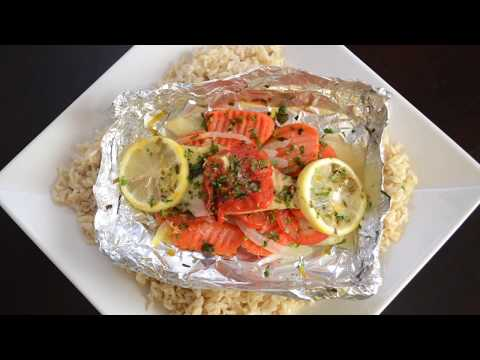 Tilapia and Veggies Baked in Foil Wraps