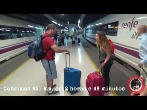 Como é viajar de trem rápido entre Madri e Barcelona