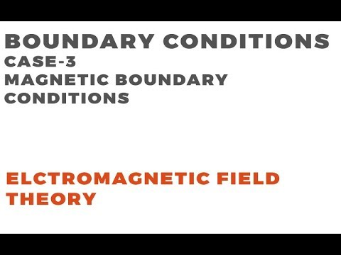 Boundary Conditions | Electromagnetic Field Theory | Case-3 Magnetic