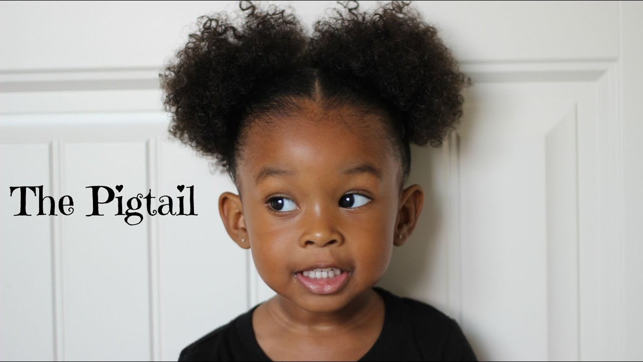 Pigtail Hairstyle 👧🏾 Hair Tutorial For Little Girls