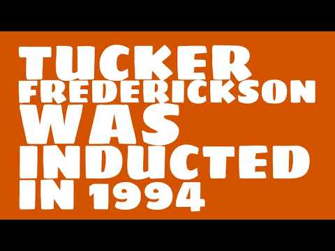 When was Tucker Frederickson inducted into the College Football Hall of Fame?