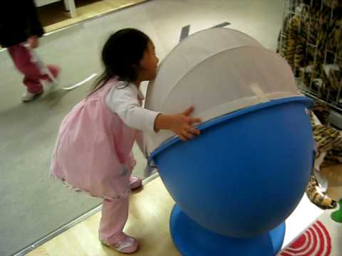 Kids Fun @ Ikea With Egg Chair   YouTube