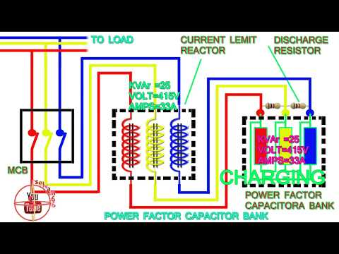 power factor capacitor bank connection diagram,how to connect three