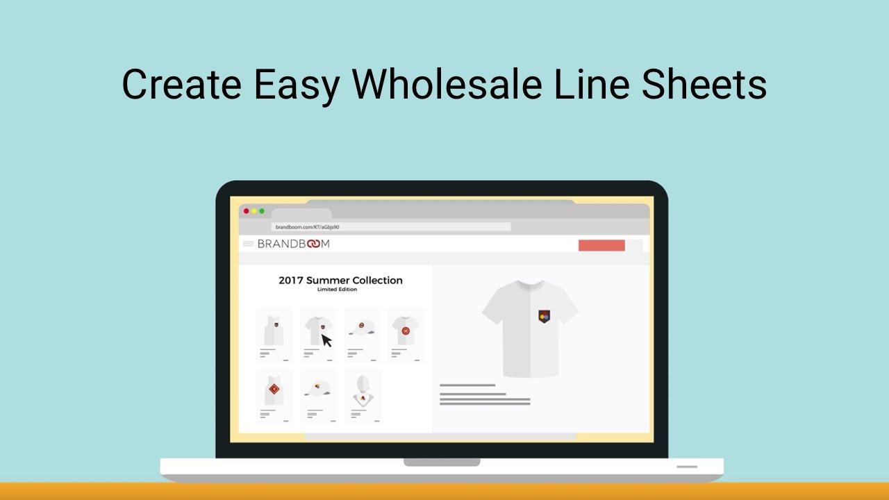 Create Easy Wholesale Line Sheets With Brandboom