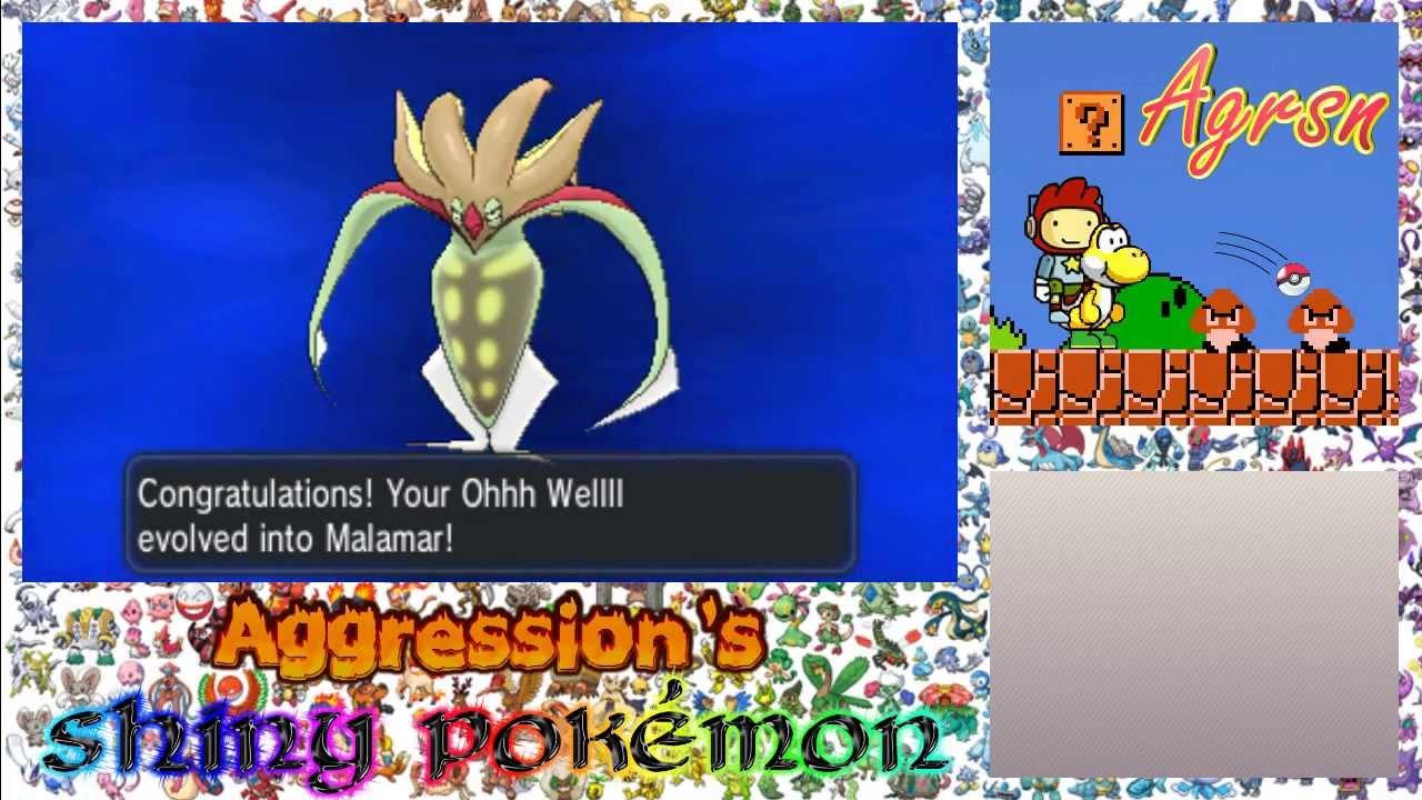 Pokémon Y Shinies w/ Agrsn #10: Malamar - YouTube