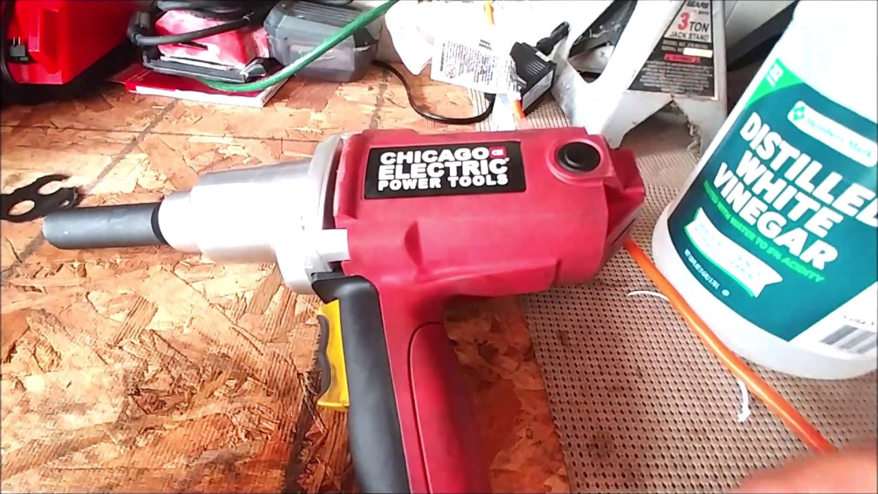 Harbor Freight 1/2 in  Heavy Duty Electric Impact Wrench Tool Review