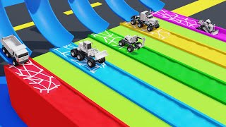 Monster Street Vehicle Toys Pretend Play Video for Kids Colors and Numbers for Kids