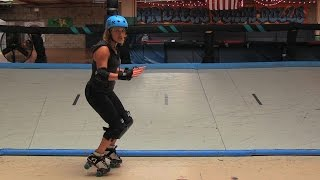 Roller Derby How-To Tutorial: Turn Around Toe Stop